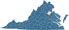 Map of Spotsylvania County